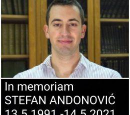 Опраштамо се од нашег Стефана Андоновића